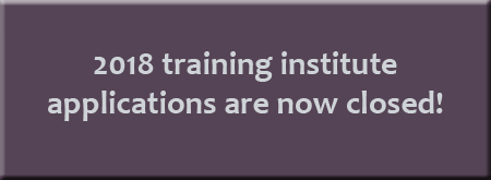 2018 Training Institute is Closed button